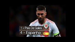 País De Gales 1 x 4 Espanha Gols Melhores Momentos SELEÇÃO de BALE toma GOLEADA!