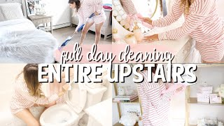 FULL DAY CLEANING MY ENTIRE UPSTAIRS! | BEDROOMS + BATHROOM | CLEANING WITH KARI