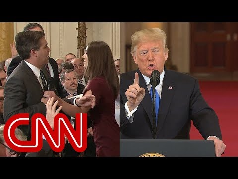 Trump clashes with Jim Acosta in testy exchange