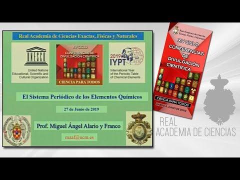 Miguel Ángel Alario y Franco, 27 de junio de 2019.23ª conferencia delXV CICLO DE CONFERENCIAS DE DIVULGACIÓN CIENTÍFICA.CIENCA PARA TODOS 2019▶ Suscríbete a nuestro canal de YouTubeRAC: https://www.youtube.com/RealAcademiadeCienciasExactasFísicasNat