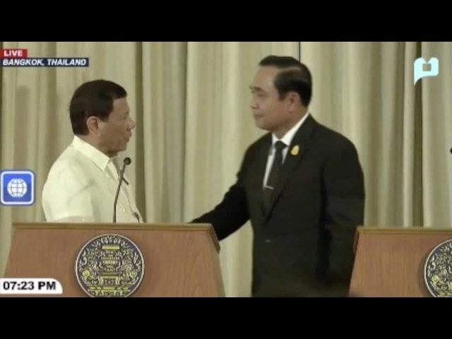 Duterte, Thai PM push for sea code completion
