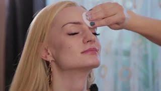 Makeup Artist Prepare's  Face Stock Video