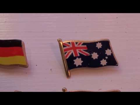 Group Of Flag Pins