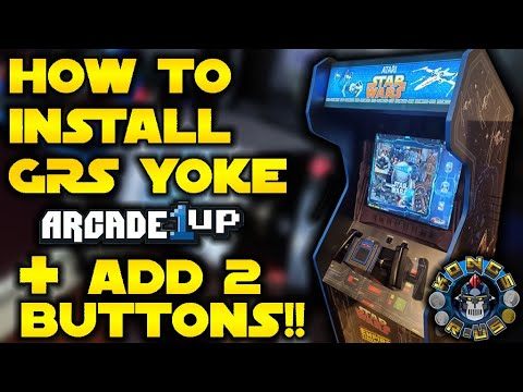 How to Install GRS Flight Yoke into an Arcade1Up Tutorial + Adding 2 Secret Buttons! (No Drilling) from Kongs-R-Us