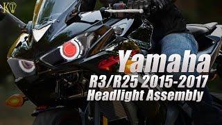 KT Yamaha R3 R25 LED Angel Eye HID Projector Headlight Assembly 2015 2016+