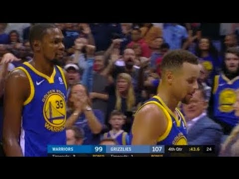 Stephen Curry and Kevin Durant Ejected! Golden State Warriors vs Memphis Grizzlies