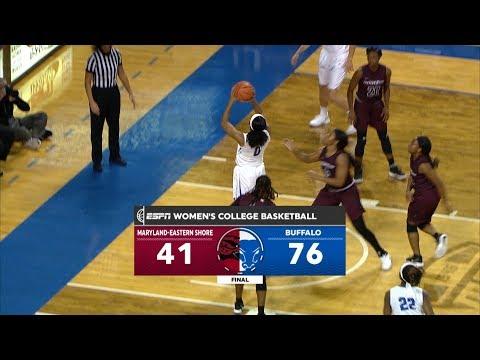 UB Women's Basketball vs Maryland-Eastern Shore Post Game Recap