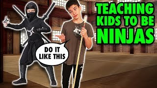 Teaching Kids how to Flip like a Ninja