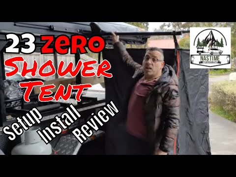 Is This The Best Shower Tent For Camping? NEW 23Zero Shower Tent - Installation /Walkthrough /Review