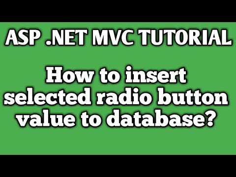 How to insert selected radio button value to database in asp .net mvc (HINDI)