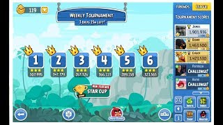 Angry Birds Friends 2017 Weekly Tournament 290a Levels 1-6 on December 7th, 2017 1,901,936pts