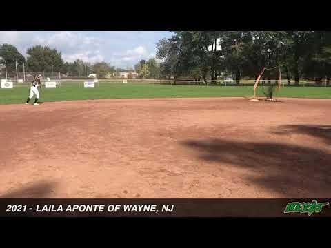 2021 Laila Aponte SS/2B Softball Skills Video NJ Heist 18U