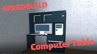 SPEEDBUILD - COMPUTERTABELLE   ROBLOX STUDIO