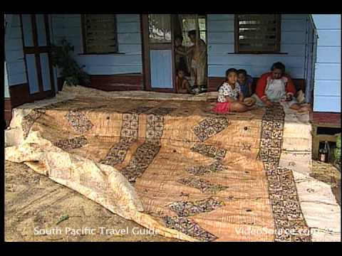 Tongan Arts and Crafts: Tapa Cloth Making