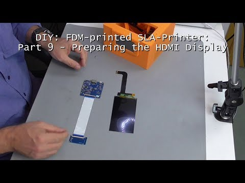 DIY: FDM-printed SLA-Printer: Part 9 - Preparing the Display