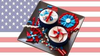 4th Of July Independence Day Cupcake Toppers
