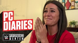 Kacy's emotional reaction to WWE Stomping Grounds