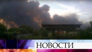 ВРостовской области пожарная авиация борется согнем наплощади в3,5 тысячи гектаров.