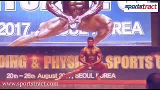 Gopu Srinivas of India in 51st Asian Bodybuilding & Physique Sports Championship 2017
