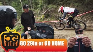 QUALIFICATIONS MTB DH WORLD CUP in VALLNORD : 27,5in VS 29in WHEELS - CG VLOG #183