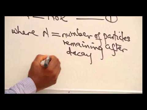 RADIOACTIVE DECAY EQUATION PART 1