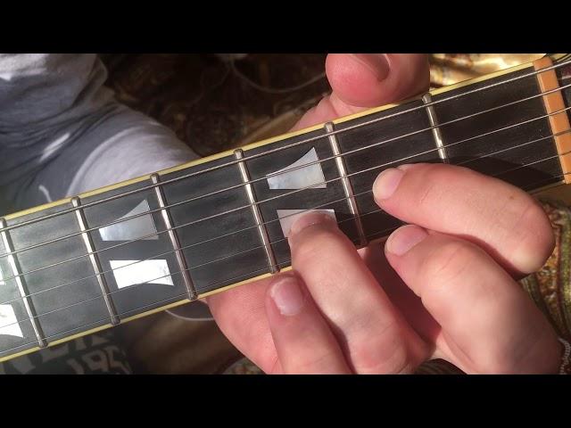 Тень. Основная тема. Урок игры на гитаре.