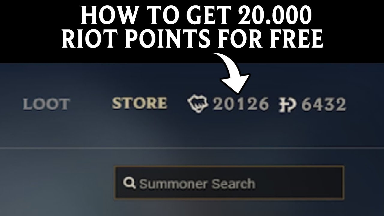 How to get FREE Riot Points in League of Legends 2017 Riot ...