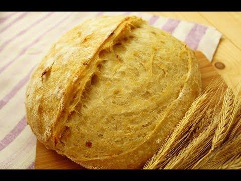 Картофельный хлеб на закваске с жареным луком и салом / ПШЕНИЧНЫЙ ХЛЕБ со шкварками / Potato Bread