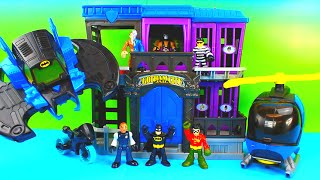 Imaginext Batman saves Robin from Bane Two Face and the Gotham City Jail Just4fun290