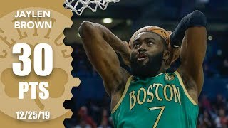 Jaylen Brown makes Celtics history dropping 30 points on Christmas Day | 2019-20 NBA Highlights
