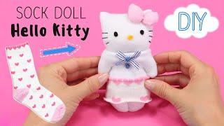 かわいい 靴下人形 DIY Cute Sock Doll Hello Kitty こんにちはキティ