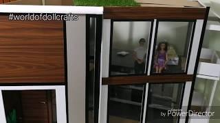 Modern Barbie House Tour   Bare Interior   Dollhouse Tour   World Of Doll Crafts