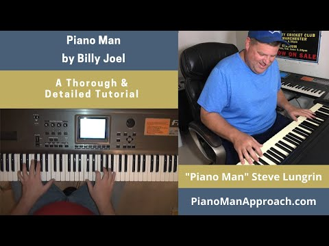 Piano Man Billy Joel, Free Tutorial!