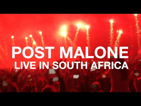 Post Malone in South Africa 2019 #CastleLiteUnlocks