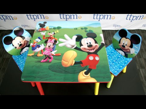 Mickey Mouse Clubhouse Chair Patio Chairs With Ottomans Table And 2 Set From Delta Children S Products