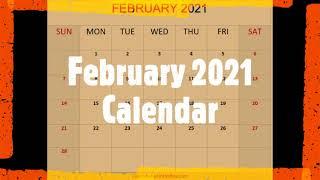 February  2021 Calendar Template by Calendar-printables.com screenshot 1
