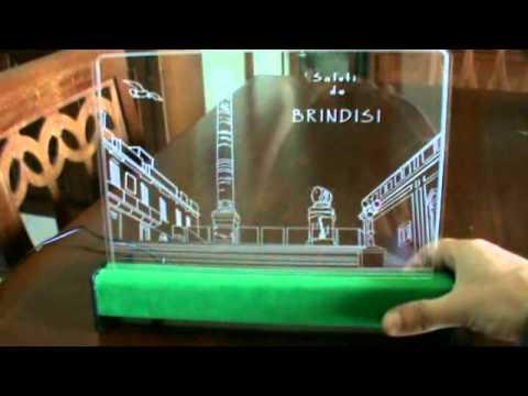 Brindisi colonne romane su plexiglass con illuminazione led avi