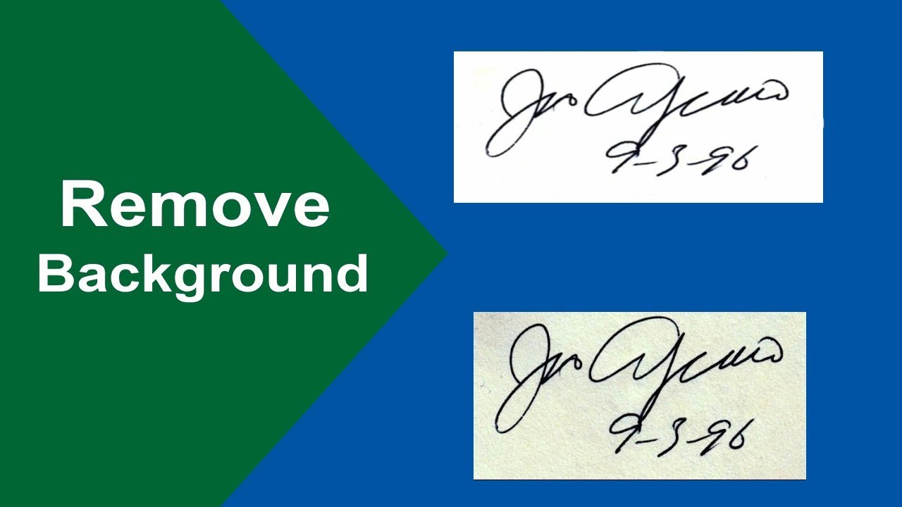 How to remove background from a scanned signature in Microsoft Word 2017