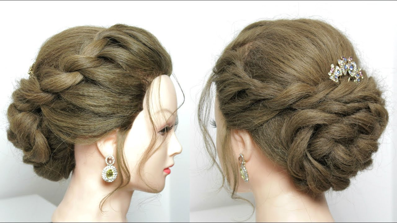 Easy Twisted Hairstyle For Long Hair Tutorial. Juda Style - YouTube