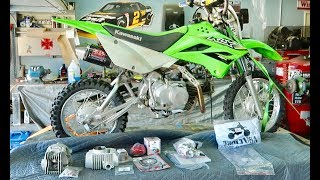 TURNING MY KLX 110L INTO A BEAST!! ( 143CC BIG BORE INSTALL WITH V2 RACE HEAD)