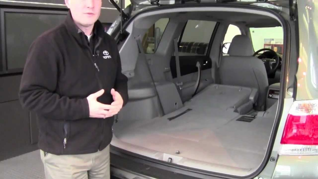 2012 Toyota Highlander 2nd Row Seats Fold Down How