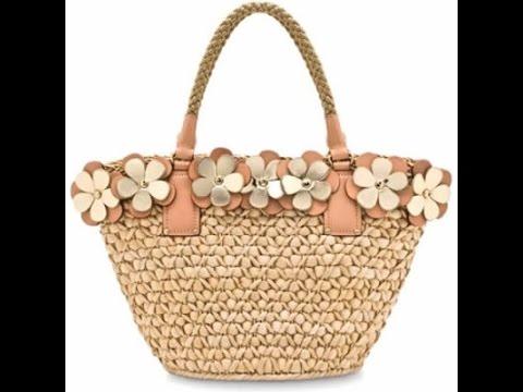 5bf1d56c2075 Очаровательные плетеные сумки из соломы - сумки корзины - YouTube