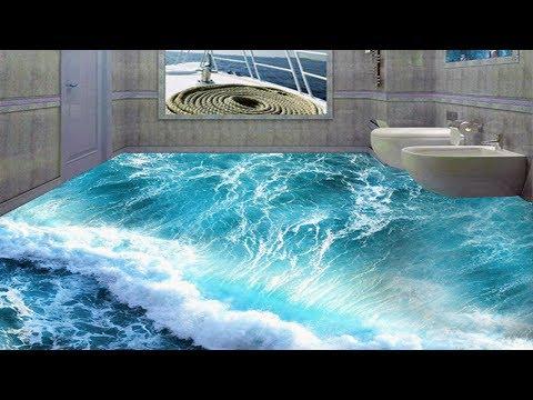 3D Floors Turn Your Bathroom Into An Ocean Don't Look Real