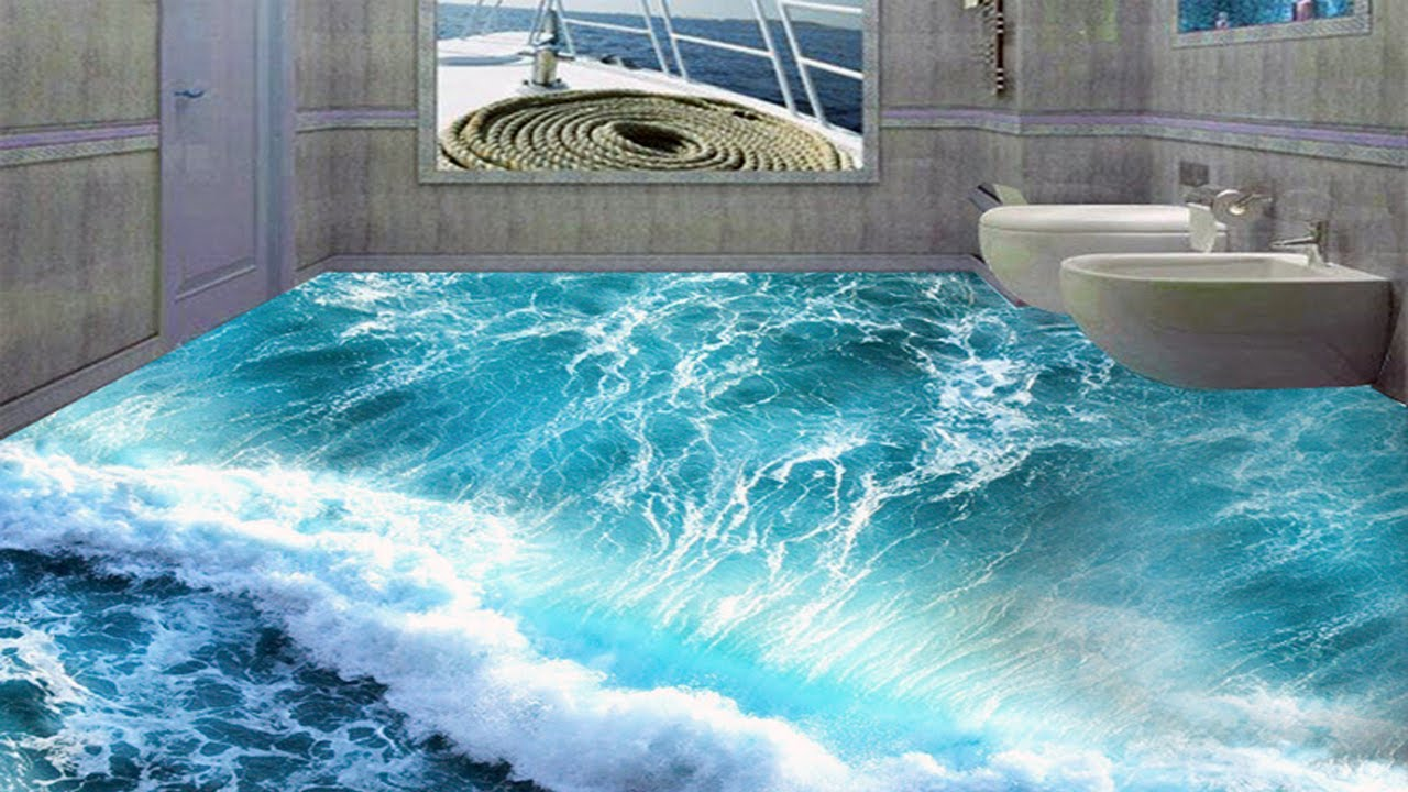 3D Floors Turn Your Bathroom Into An Ocean Don't Look Real ...