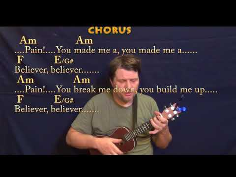 Believer (Imagine Dragons) Ukulele Cover Lesson In Am With Chords/Lyrics