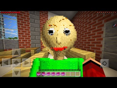 I FOUND BALDI in Minecraft Pocket Edition