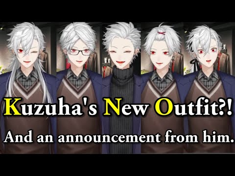 [Eng Sub]Kuzuha showed us a lot of outfits! There's even a new outfit! [Nijisanji/costume/Mayuzumi]