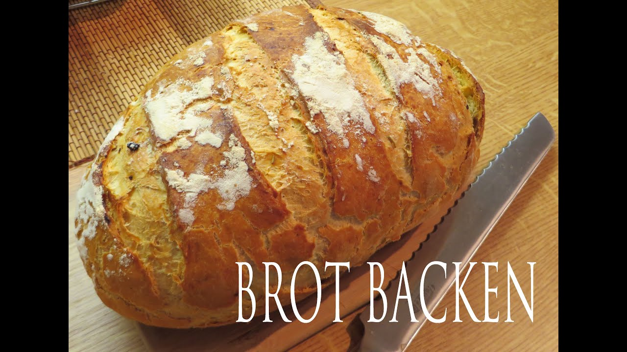 Brot Backen Knusprige Kruste Fast Wie Vom Bäcker Youtube