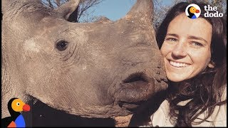 Girl Is Mom to Baby Rhinos | The Dodo