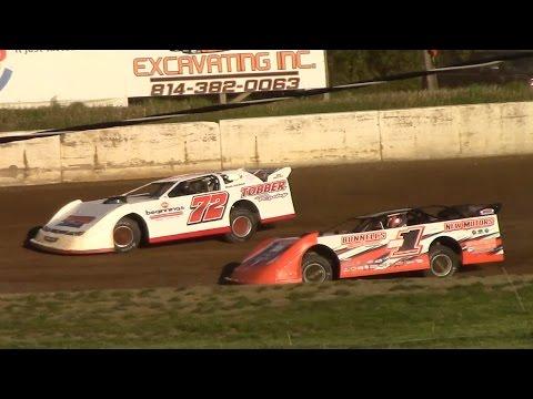 Super Late Model Heat Two | Eriez Speedway | 5-14-17
